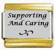 Supporting And Caring, kullanväriset reunat