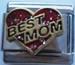 Best mom, punainen glitterpalakoru