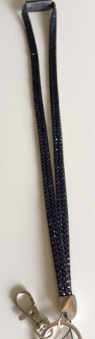 Avainnauha turvalukolla, siniharmaa 90 cm
