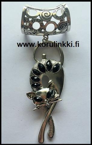 Huivikoru/paperinarukoru Kissa, ant. hopean värinen