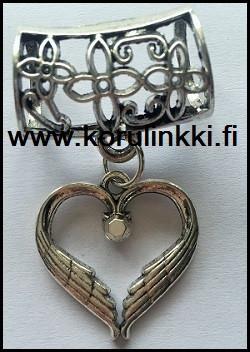 Huivikoru / paperinarukoru Siivin suojattu sydän, pieni