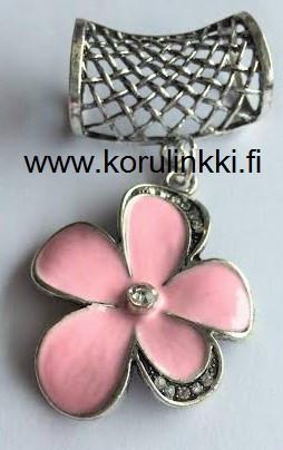 Huivikoru / paperinarukoru Kukka, vaaleanpunainen