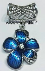 Huivikoru / paperinarukoru Kukka, sininen