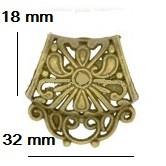 Antiikkipronssin värinen ripustin, koristeellinen