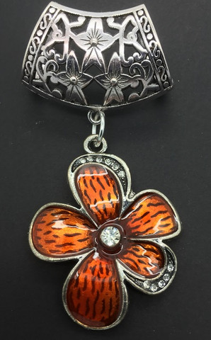 Huivikoru/paperilankakoru Kukka, oranssi