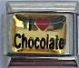 I love Chocolate, kullanvärinen tausta