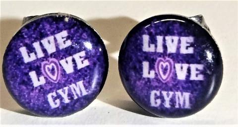 Kirurginteräskorvakorut Live Love Gym