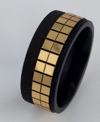 Terässormus, kulta-musta 8 mm