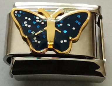 Glitter-perhonen, sininen