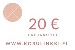 Lahjakortti 20 €