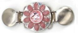 Neuleklipsu vaaleanpunainen kukka