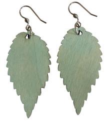 Puulehtikorvakorut, vaaleanvihreä