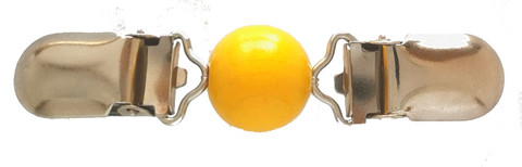 Pieni klipsu Puuhelmi keltainen