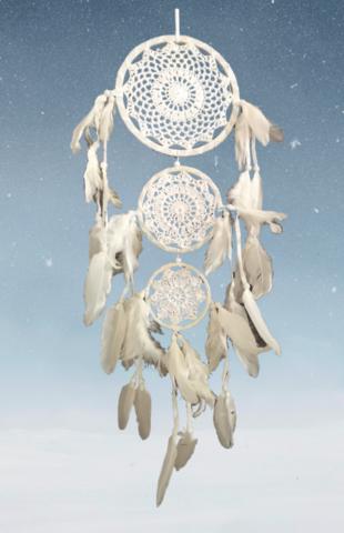 Valkoinen 3-osainen unisieppari