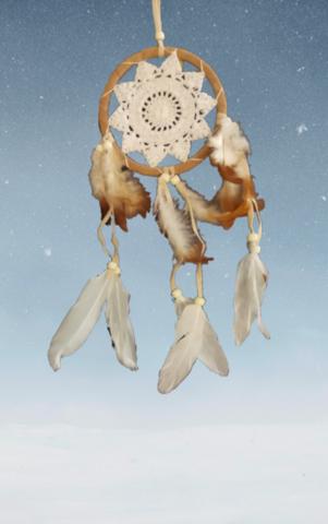 Pieni unisieppari ruskea-valkoinen