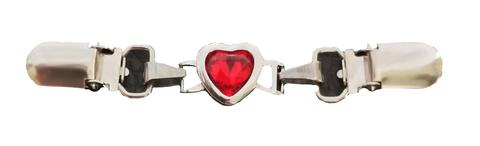 Miniklipsu Suuri sydän, punainen