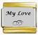 My Love, kullanväriset reunat