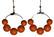 Puuhelmikorvakorut, oranssi