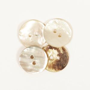 Helmiäisnapit, pyöreä 15mm