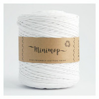 Minimop eco-friendly cotton twine (valkoinen)