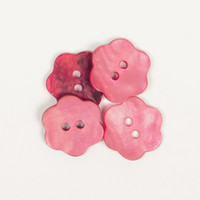 Helmiäisnapit, kukka (hillitty roosa) 15mm