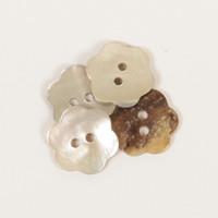 Helmiäisnapit, kukka (valkoinen) 15mm
