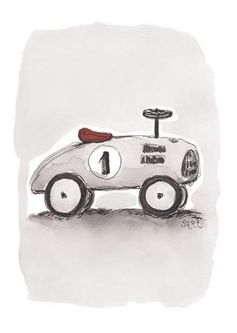 KORTTI, Auto harmaa, 2-osainen
