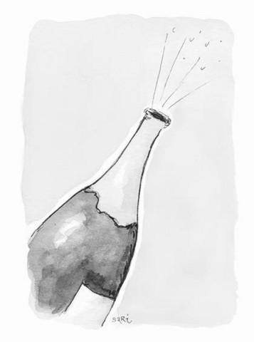 KORTTI, Shampanjapullo harmaa, 2-osainen