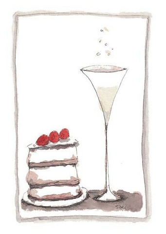 KORTTI, Shampanja & kakku, 2-osainen