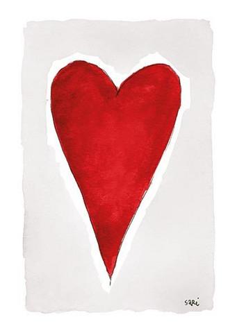 KORTTI, Sydän punainen, 2-osainen