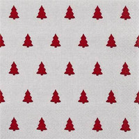 SERVETTI,  LINEN TREES RED 33X33 CM