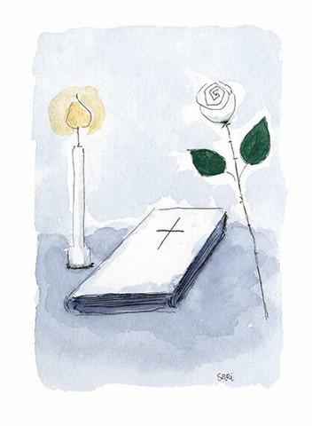 KORTTI, rippipäivänä ruusu valk, 2-osainen