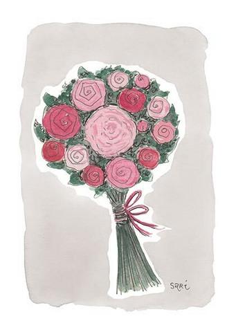 KORTTI, ruusukimppu eriväriset, äidille, 2-osainen
