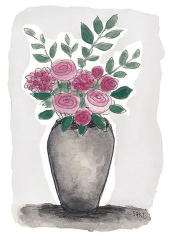 KORTTI, kukkia ruukussa, 2-osainen
