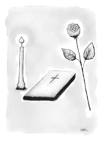 KORTTI, rippi kynttilä harmaa, 2-osainen