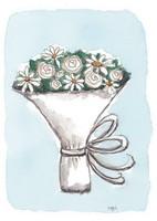 KORTTI, kukkakimppu valk, 2-osainen