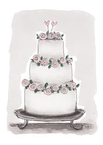 KORTTI, kakku vaal.pun ruusut, 2-osainen
