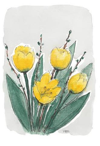 KORTTI, Tulppaanit keltaiset, 2-osainen