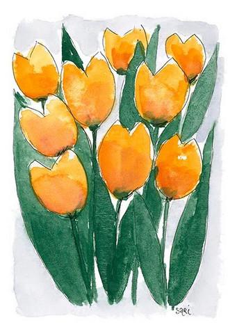 KORTTI, Keltaiset tulppaanit, 2-osainen