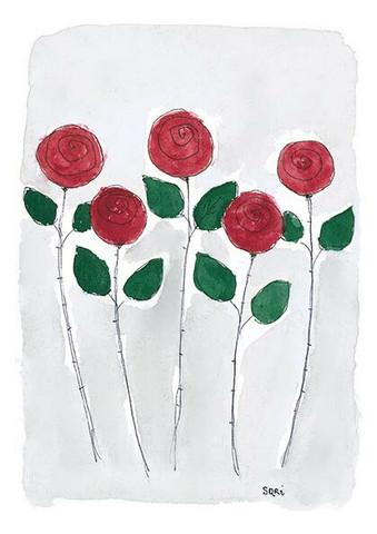 KORTTI, Onnittelut kaksoistutkinnosta, 5 pun. ruusua, 2-osainen