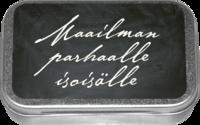 LAKRITSIPASTILLIT PELTIRASIASSA, MAAILMAN PARHAALLE ISOISÄLLE