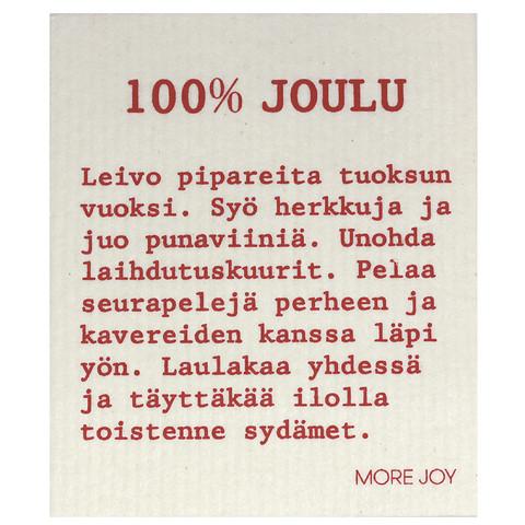 TISKIRÄTTI 100% JOULU, VALKOINEN