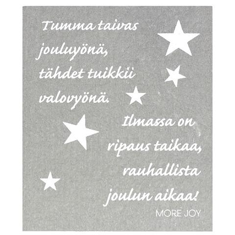 TISKIRÄTTI TAIVAS JOULUYÖNÄ, HARMAA
