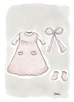 KORTTI, mekko pienelle tytölle, 2-osainen