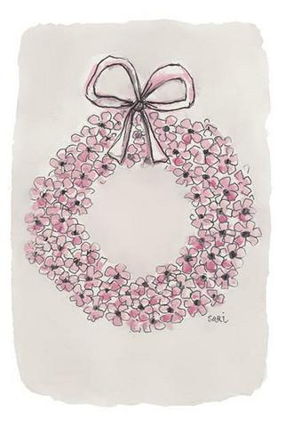 KIRJA, kukkakranssi, vaaleanpunainen