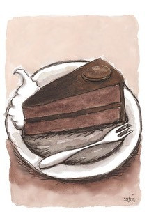 KORTTI, suklaakakku, 2-osainen