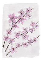 KORTTI, kirsikankukka, 2-osainen