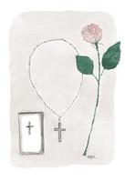 KORTTI, rippiristi, ruusu, 2-osainen