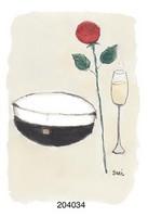 KORTTI, yo-lakki, ruusu ja juoma, 2-osainen