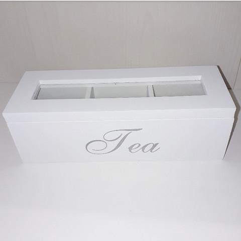 TEA-RASIA LASIKANNELLA, VALKOINEN 22 x 8 x 7cm